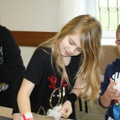 Dzieci uczestniczące w akcji ferie