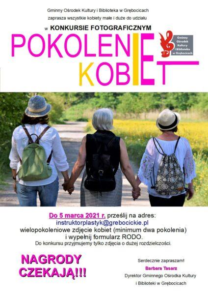 KONKURS FOTOGRAFICZNY POKOLENIE KOBIET