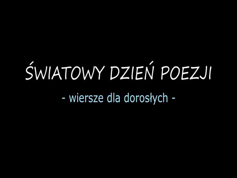 światowy dzień poezji