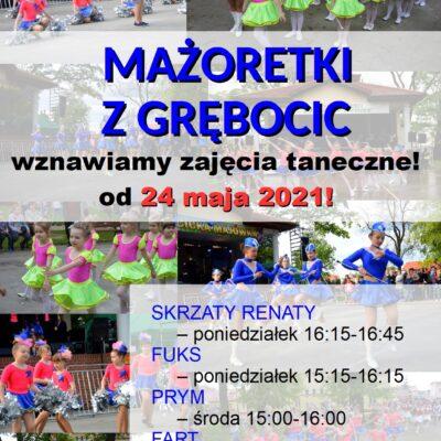 18.05.2021 plakat wznawiamy zajęcia taneczne!