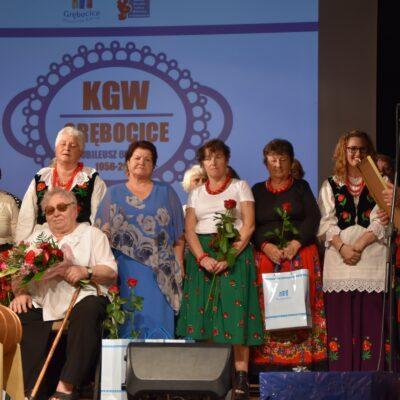 Przewodniczący Rady Gminy Grębocice wraz z Jubilatkami