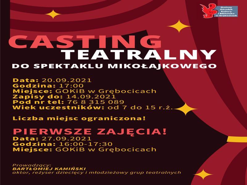 Plakat - casting teatralny