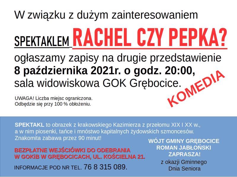 8.10.2021 spektakl Rachel czy pepka- 2 przedstawienie